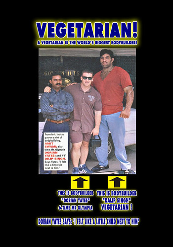 Mr Olympia Ronnie Coleman Jay Culter Dwarfed by Vegetarian Bodybuilder Muscle - 1st