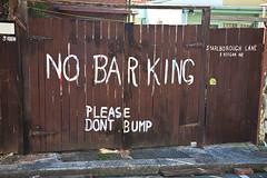 No Barking.