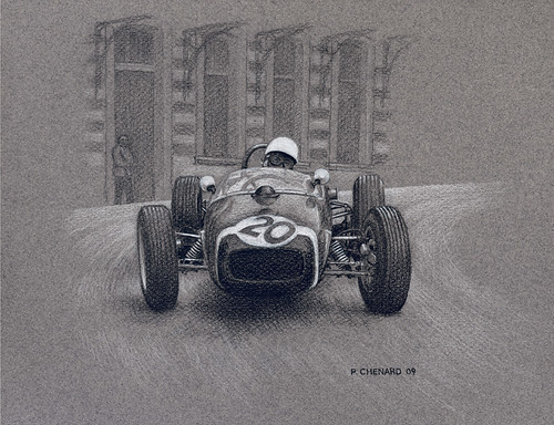 Monaco-GP-1961 by Automobiliart