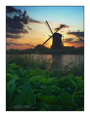 HDR Sunset @ Windmill 'Prinsenmolen' Rotterdam