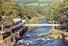 The Chain Bridge over the River Dee, Berwyn, nr Llangollen, North Wales