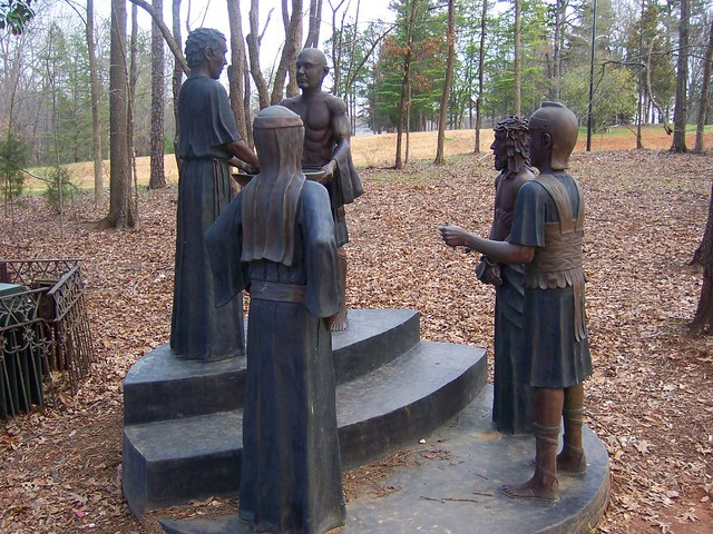 2100+ views - Heritage USA Sculpture outside of Upper Room