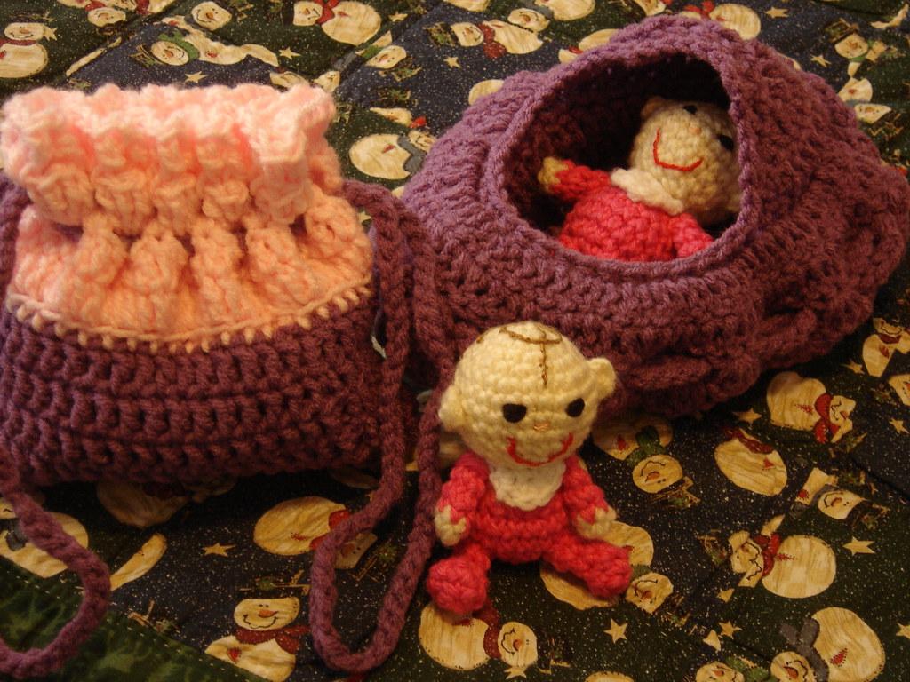 Crochet Cradle Purse Cradle Purse Crochet Cradle Purse