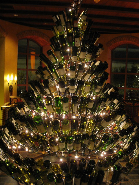 Wine Bottle Christmas Tree at Gaylord Texan, Christmas 2009