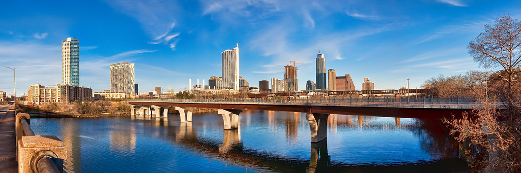 Panorama of Austin Skyline From Lamar Street