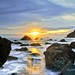 Sunset Though The Rocks - John Muir Beach California