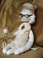 "Sock Monkey Blanche - A ""Retired"" Schoolmarm"