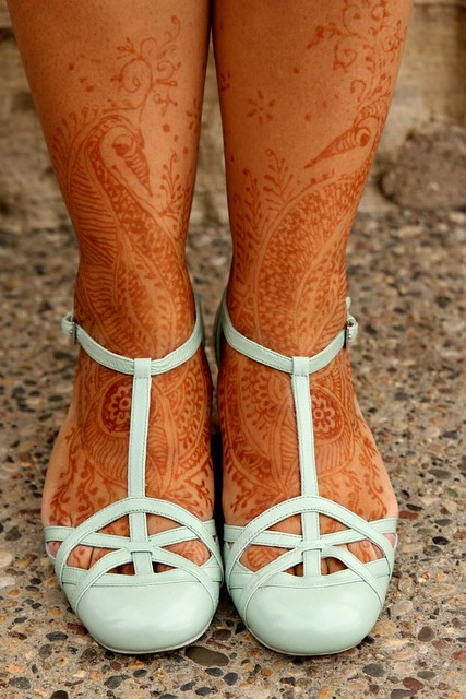 bride's feet, the day of