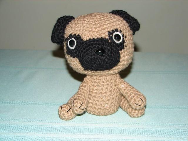 Amigurumi Free Patterns Dog : Amigurumi Pug finished pug using a pattern from Jaravee ...