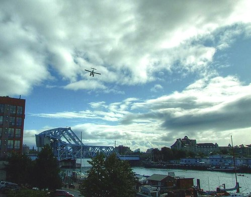Float plane over Blue Bridge