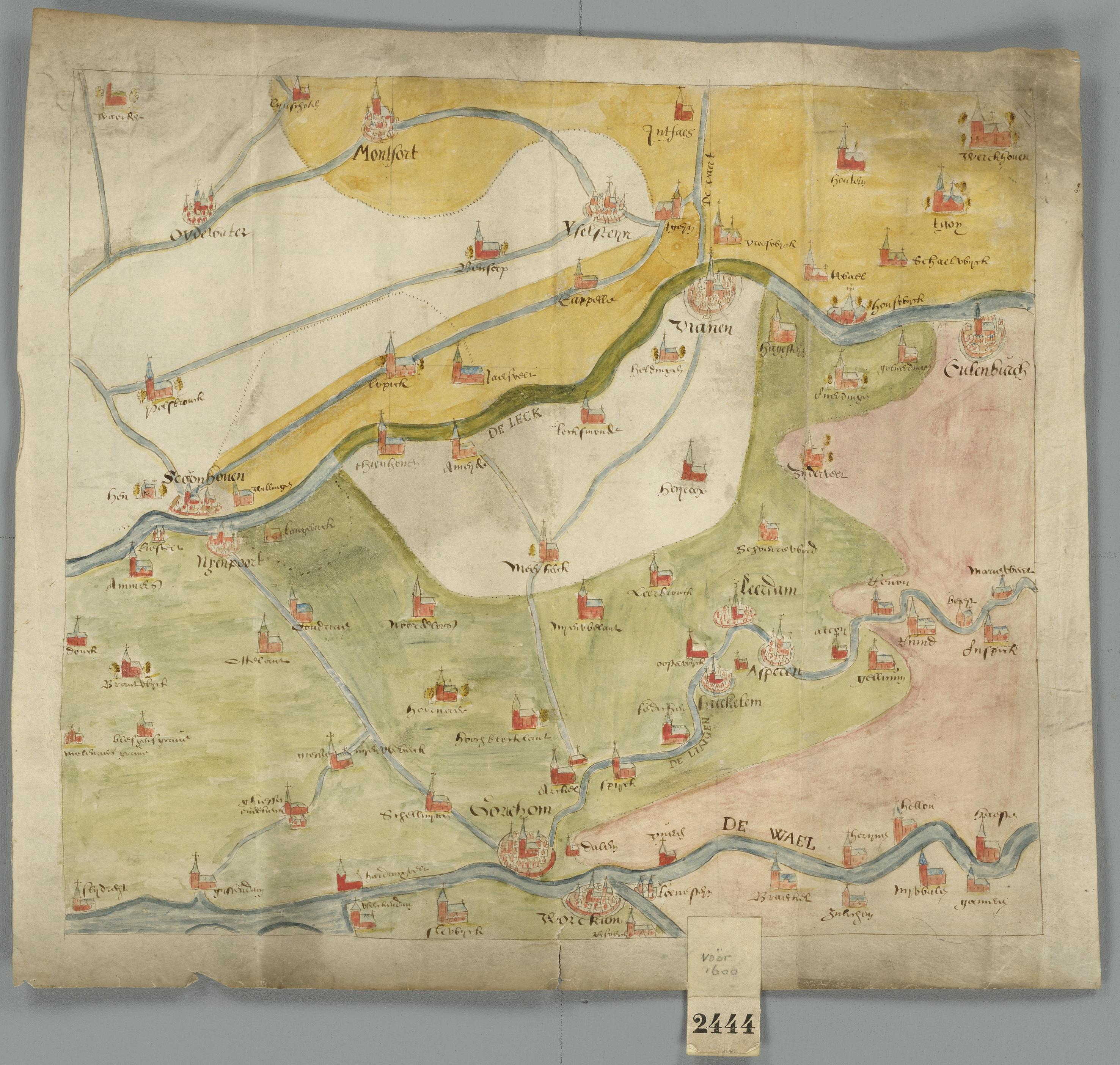 Historische Kaart Vijfheerenlanden 16e Eeuw Flickr