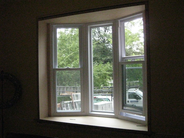Inside bay window flickr photo sharing for What to put in front of a bay window