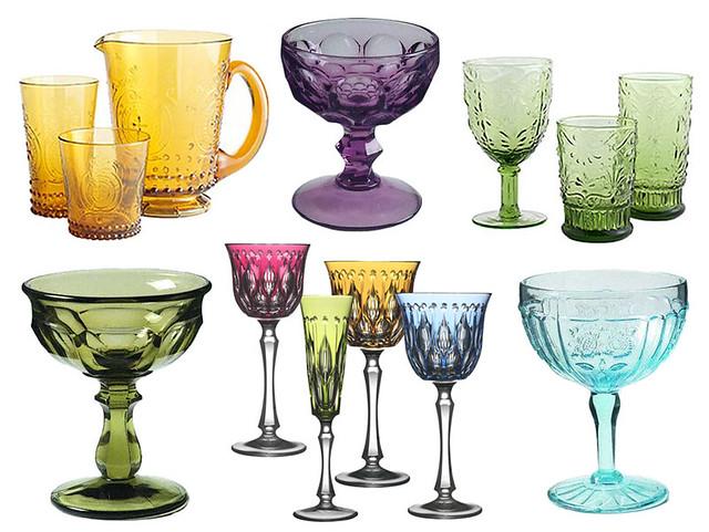 Blue Drinking Glasses Glasses