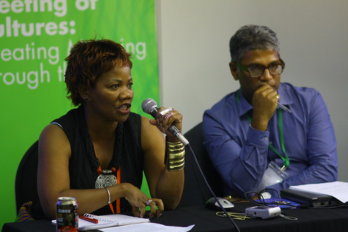 Maude Dikobe (Botswana) and Gerard Lemos (UK), 4th World Summit on Arts & Culture
