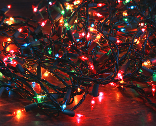 tangled christmas lights