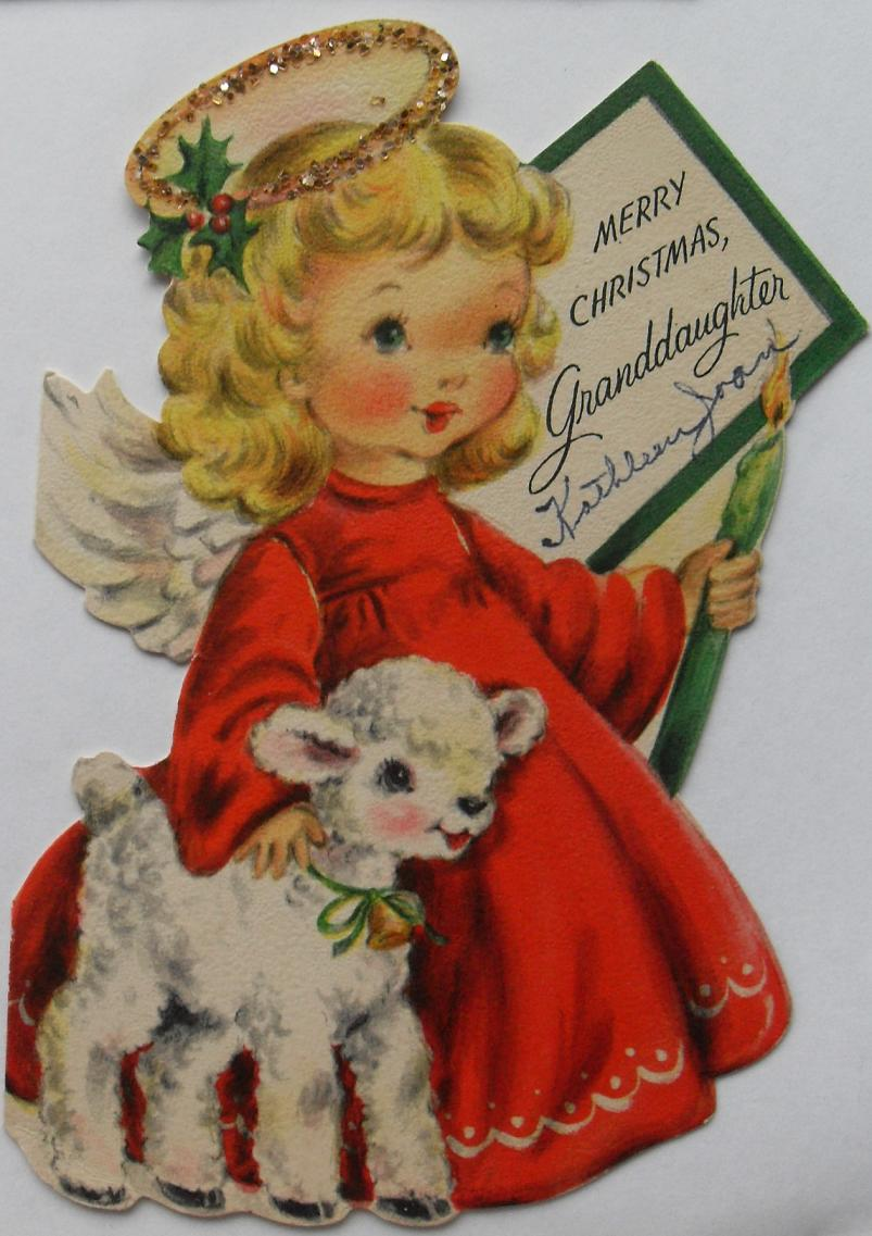 the gallery for gt vintage angel christmas cards