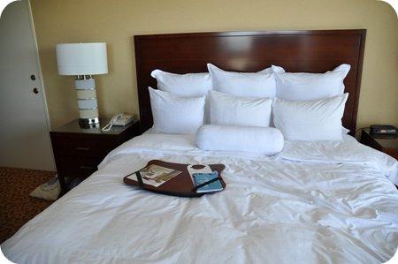 Big cushy bed at the Ottawa Marriott