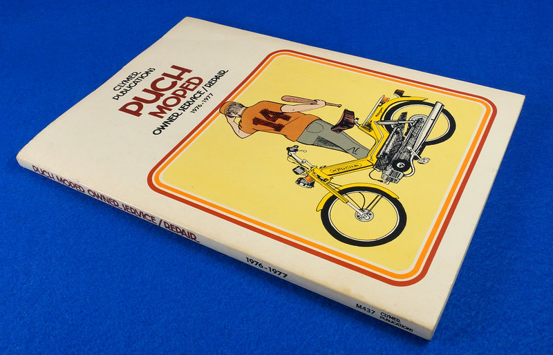 RD15221 Original Vintage Puch Moped Owner Service Repair Manual 1976-1977 DSC08751