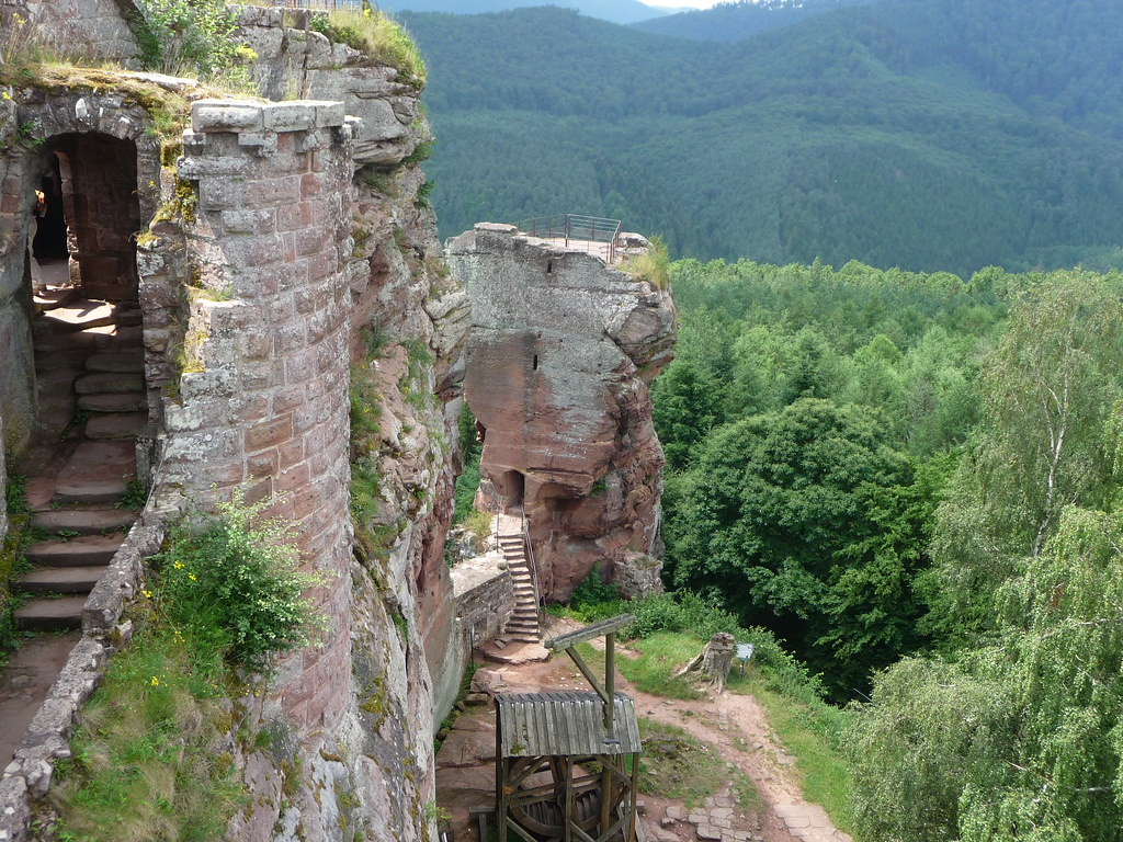 The stairs of Fleckenstein Castle