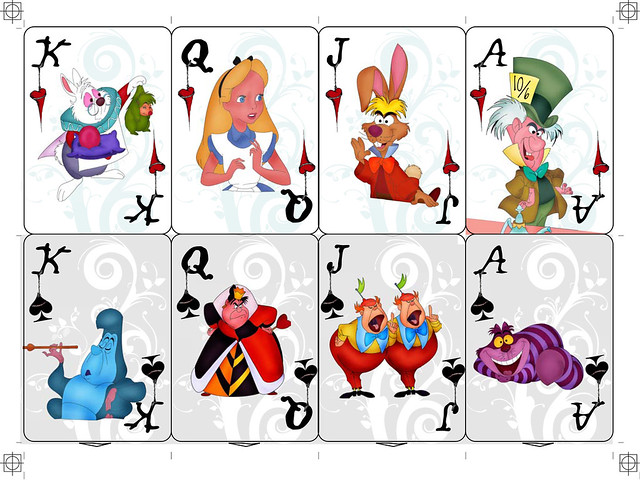 Alice in Wonderland Playing Cards   Flickr - Photo Sharing!