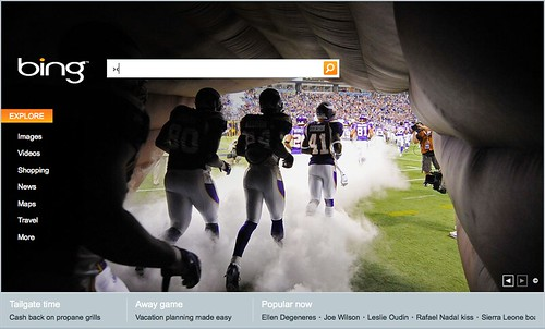 Bing homepage 09-10-2009