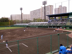 tennis court(0.0), tennis(0.0), soccer-specific stadium(0.0), sport venue(1.0), sports(1.0), baseball park(1.0), baseball field(1.0), stadium(1.0),