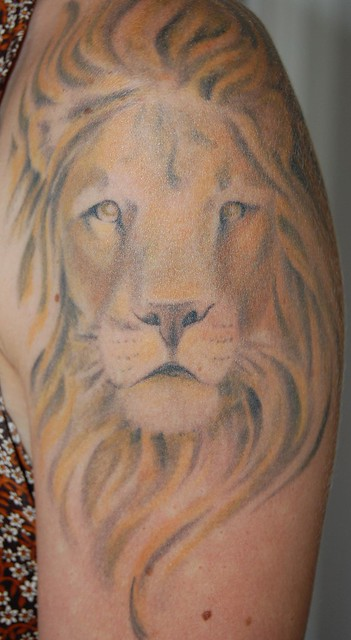 Two headed lion tattoo - photo#16