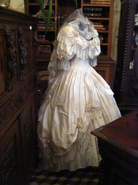 Victorian wedding dress I was in an antique shop in Antwerp Belgium last