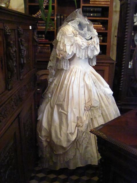 Victorian wedding dress I was in an antique shop in Antwerp Belgium last