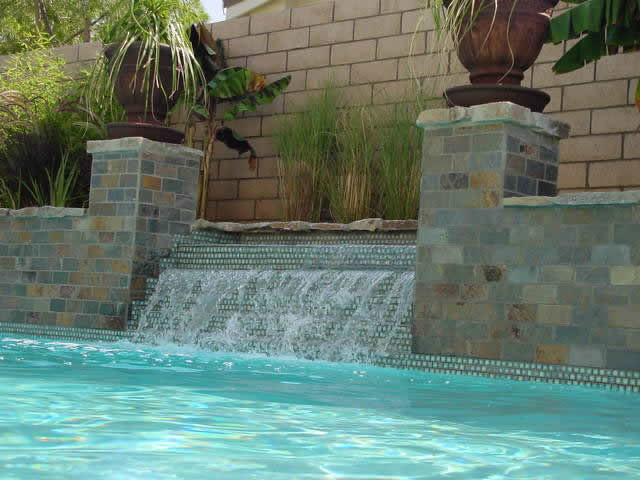 Swimming Pool Tile Design Different Sized Tile And A Large