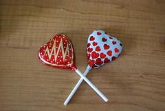 heart, red, lollipop, food,
