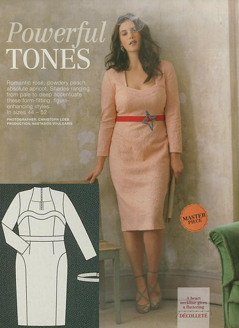 Burda-March-2014 Plus Size Fitted Dress