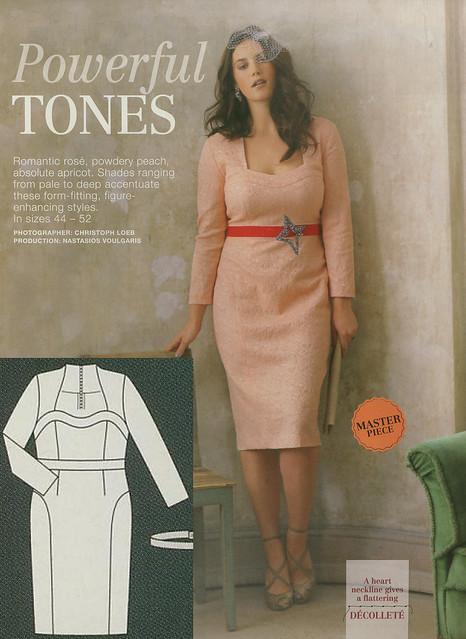 Burda-March-2014 Plus Size Fitted Dress