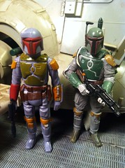 Star Wars Boba Fett Side By Side Kenner And Hasbro