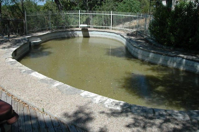 Swimming pool to pond build for Swimming pool koi pond conversion
