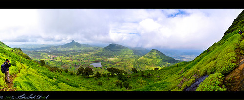 blue sky panorama mountain green landscape nikon pano climbing dang maharashtra nikkor maker gujarat treking d40 shaler 1855vr shalair 15shot