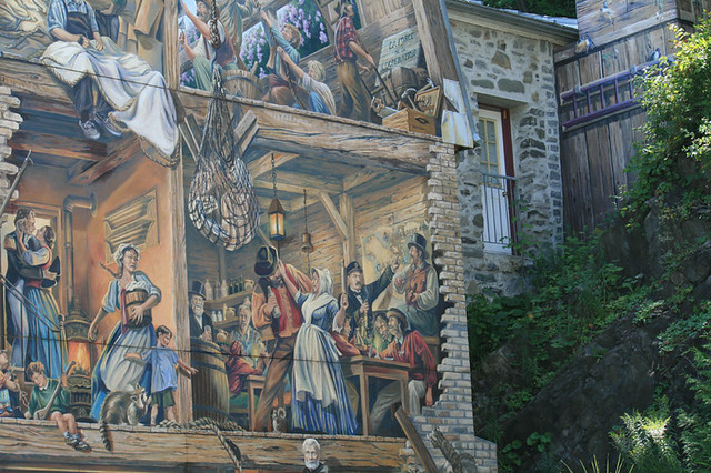 Old quebec city mural painting 2 flickr photo sharing for Mural quebec city