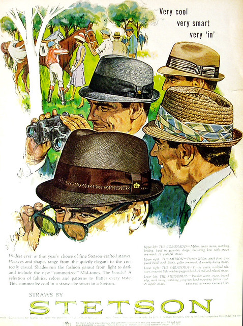 57ebffe08151a Headstart Hats  Vintage 1960s Stetson Hat Adverts