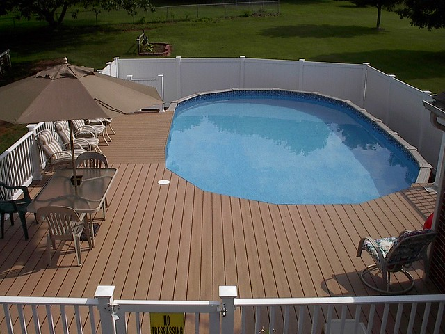 Deck Around Above Ground Pool Flickr Photo Sharing