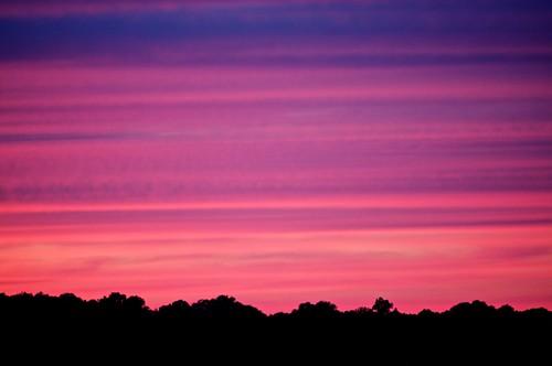 sunset sky purple horizon dcist arlingtonva