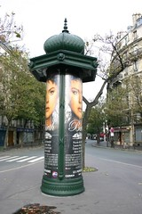 Advertising kiosk in Paris