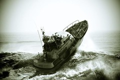 Motor Life Boat In Surf Off Montauk Point Photo Credit
