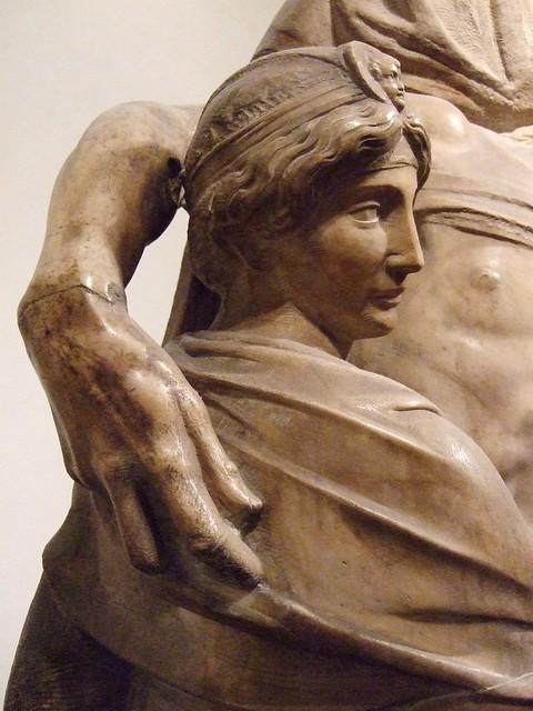 Firenze, Duomo Museum: Michelangelo 'Pieta' detail (Mary ...