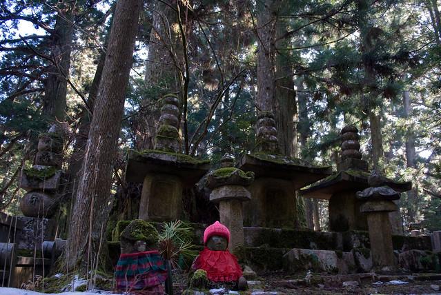 Okunoin cemetery, world heritage Mount Koya, Japan, Dec 2009