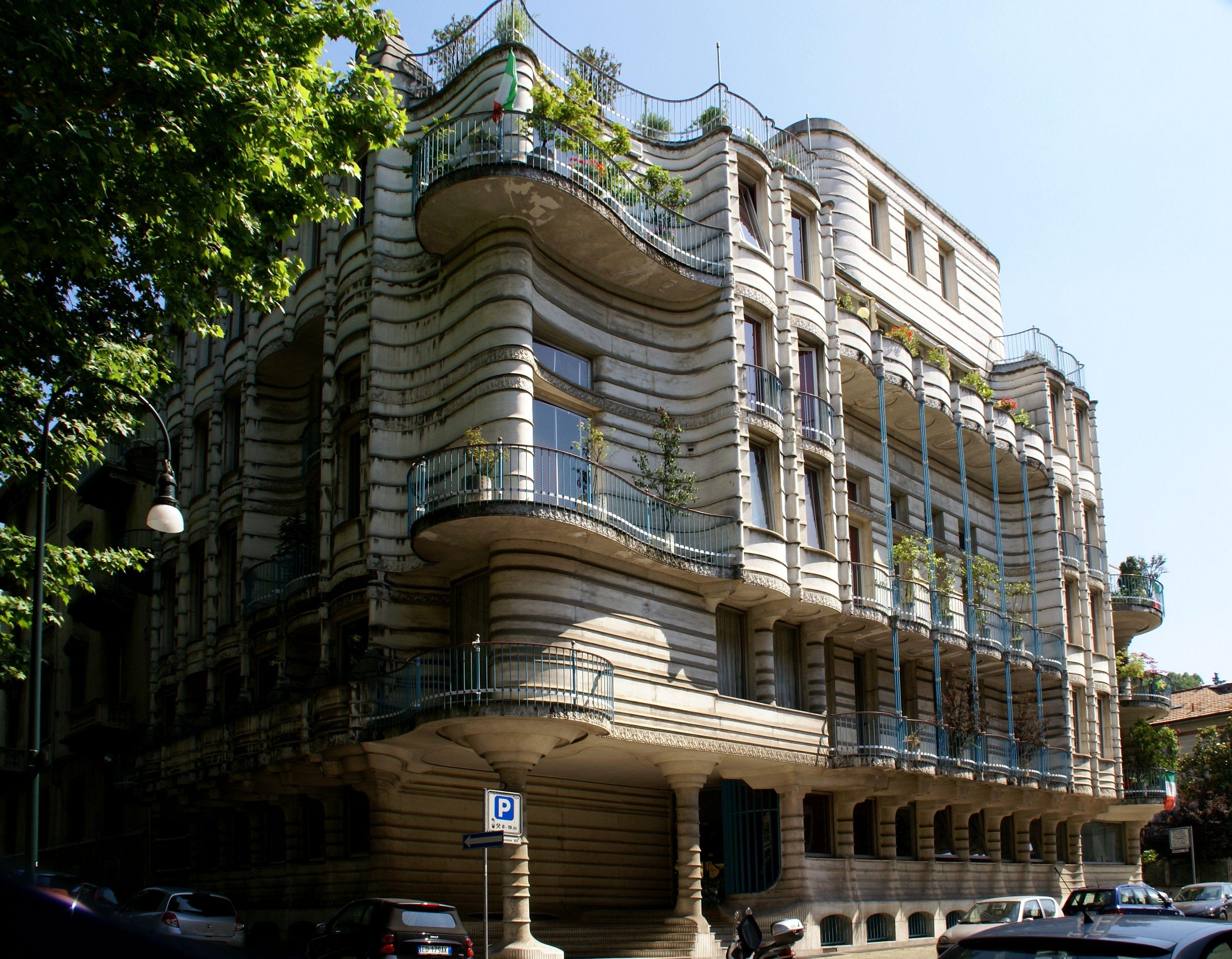 Torino piazza crimea ecke via bicocca jugendstilgeb ude for Casa moderna a torino