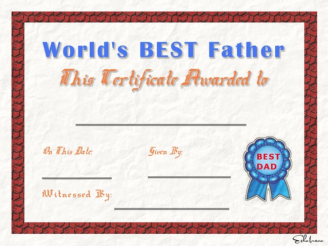 Best Father Certificate Blank Flickr Photo Sharing