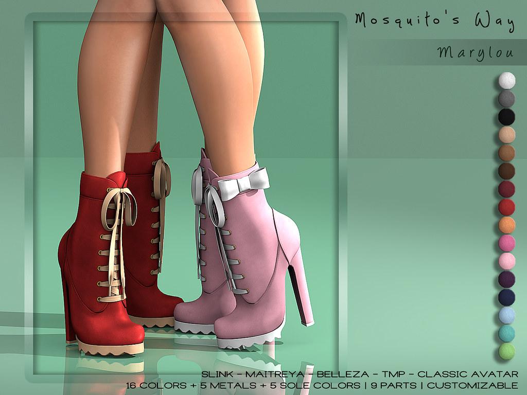 Mosquito's Way - Marylou Boots - SecondLifeHub.com