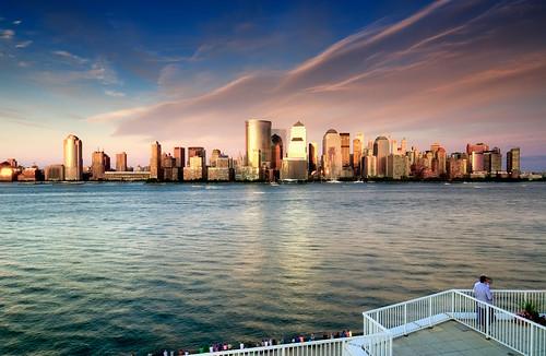 nyc newyorkcity sunset people cloud ny newyork reflection skyline river geotagged boat newjersey jerseycity bravo cityscape worldtradecenter nj financialdistrict explore hudsonriver frontpage spectator hdr mudpig stevekelley