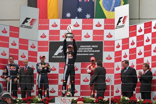 Formel 1 - Nürburgring 2009 - Siegerehrung