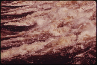 Foaming Waters of the Errol Dam, on the Upper Reaches of the Androscoggin River 06/1973